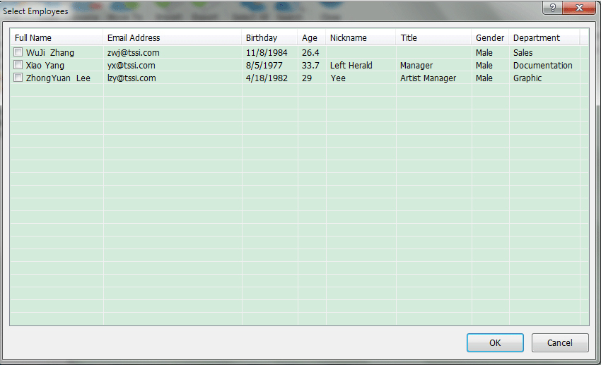 Email Tools Software, Auto Mail Sender Birthday Edition Screenshot