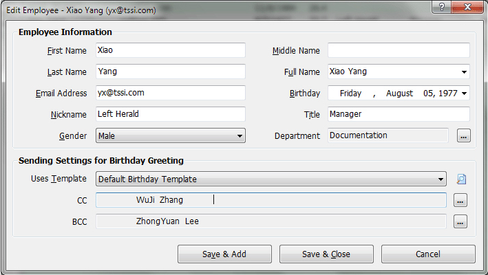 Auto Mail Sender Birthday Edition Screenshot 9
