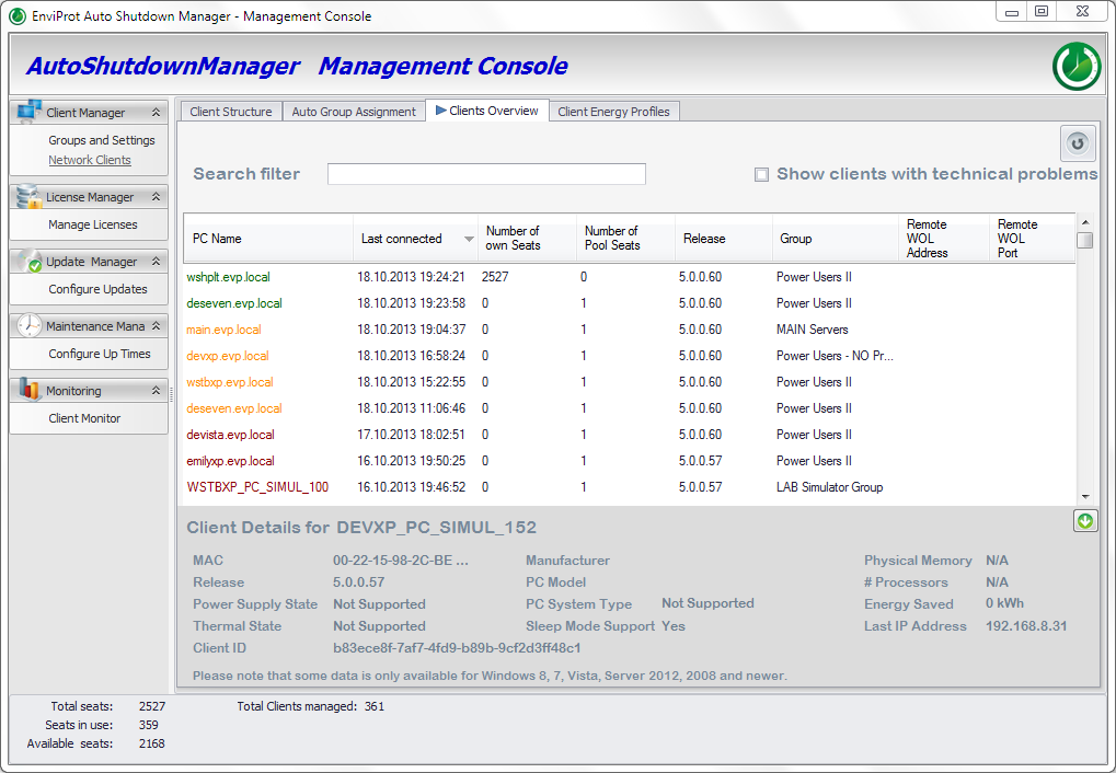 Auto Shutdown Manager, Auto Shutdown Software Screenshot