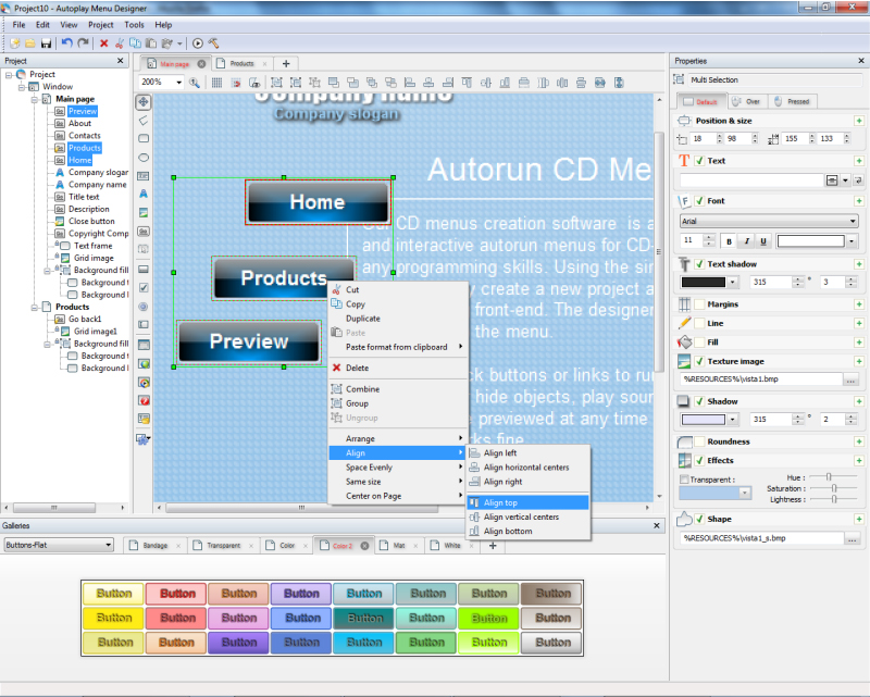 Presentation Software, Autoplay Menu Designer Business License Screenshot