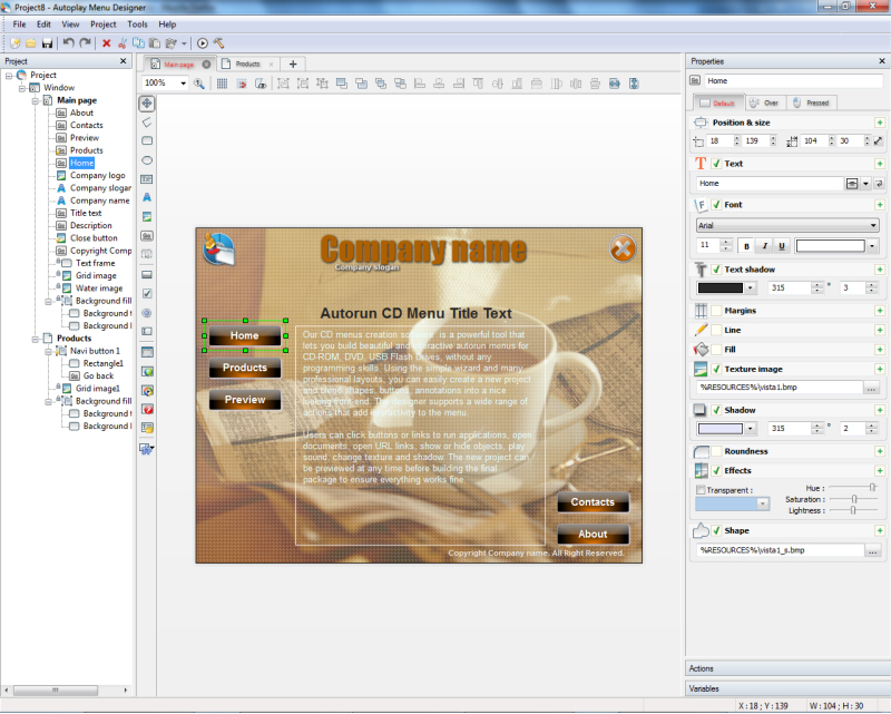 Autoplay Menu Designer Business License Screenshot