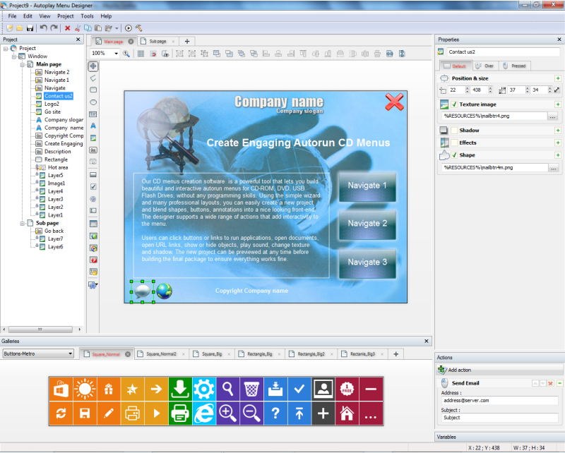 Autoplay Menu Designer Business License, Presentation Software Screenshot