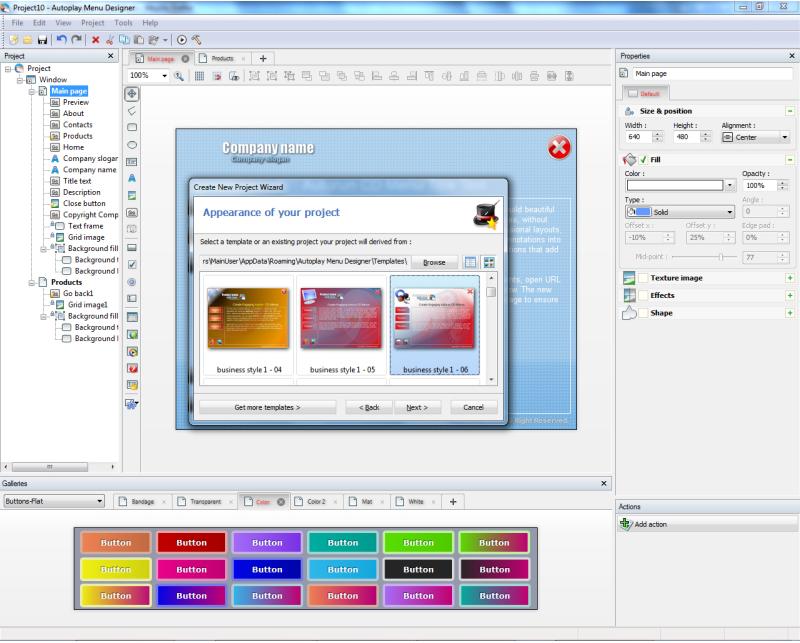 Autoplay Menu Designer Business License, Business & Finance Software Screenshot