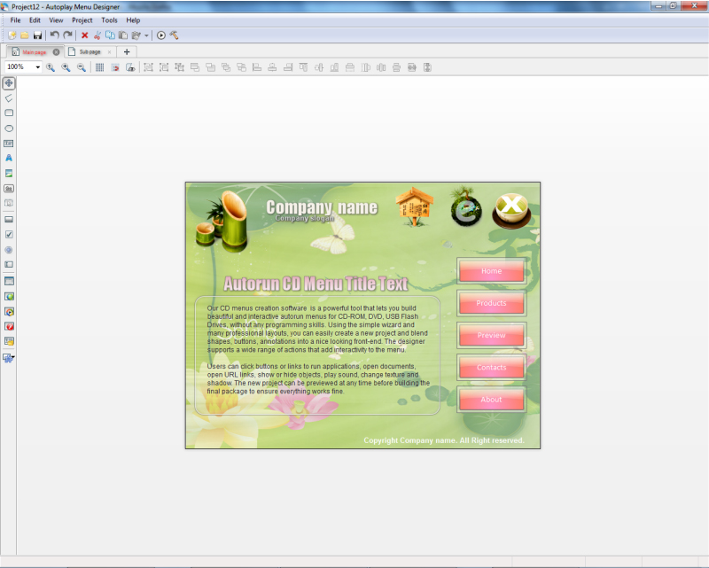 Autoplay Menu Designer Business License Screenshot 8