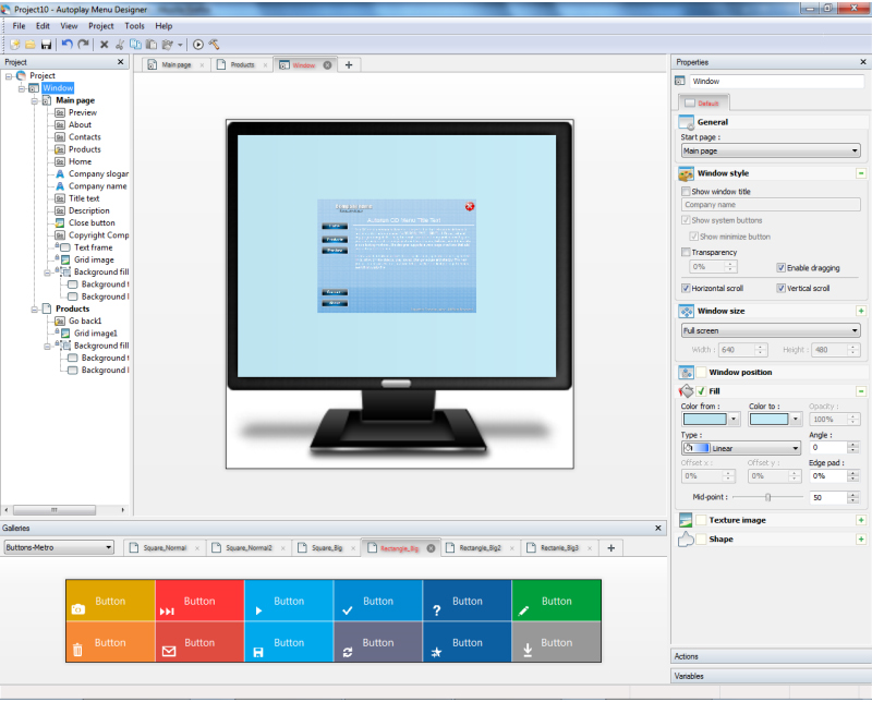 Autoplay Menu Designer Business License, Business & Finance Software, Presentation Software Screenshot