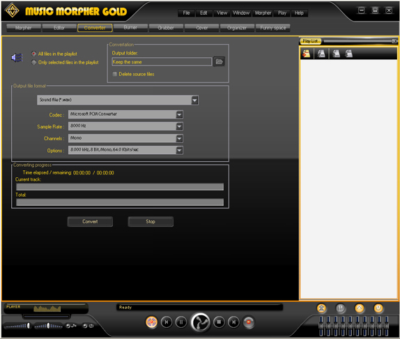 AV Music Morpher Gold, Recording Studio Software Screenshot