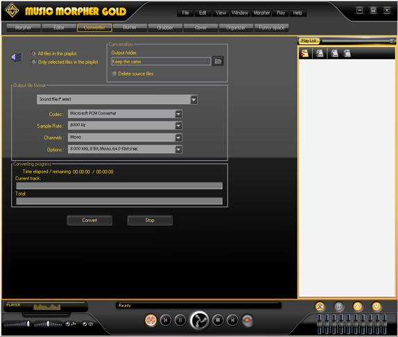 AV Music Morpher Gold, Recording Studio Software Screenshot