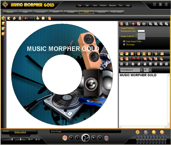 AV Music Morpher Gold, Audio Software Screenshot