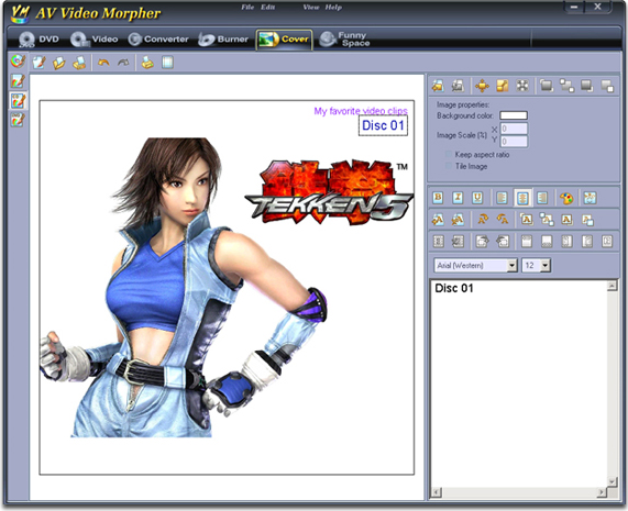 AV Video Morpher, Video Software Screenshot