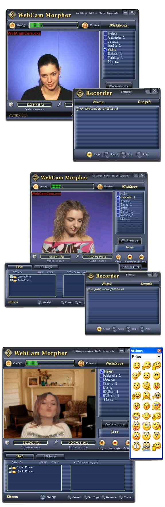 AV Webcam Morpher Screenshot