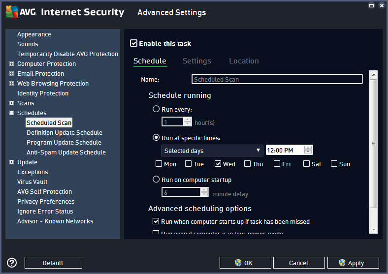 AVG Security, Website Security Software Screenshot