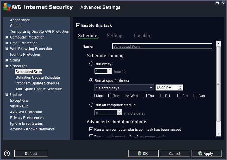 AVG Security, Website Security Software Screenshot