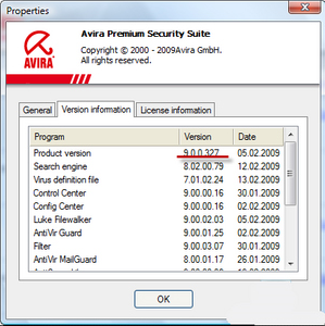 Avira AntiVir Premium, General Security Software Screenshot