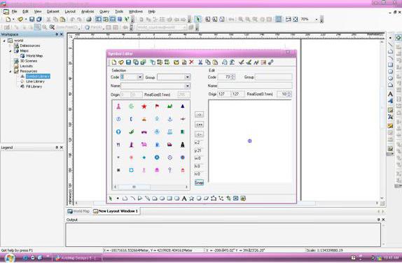 AvisMap Deskpro, Vector Drawing Software Screenshot