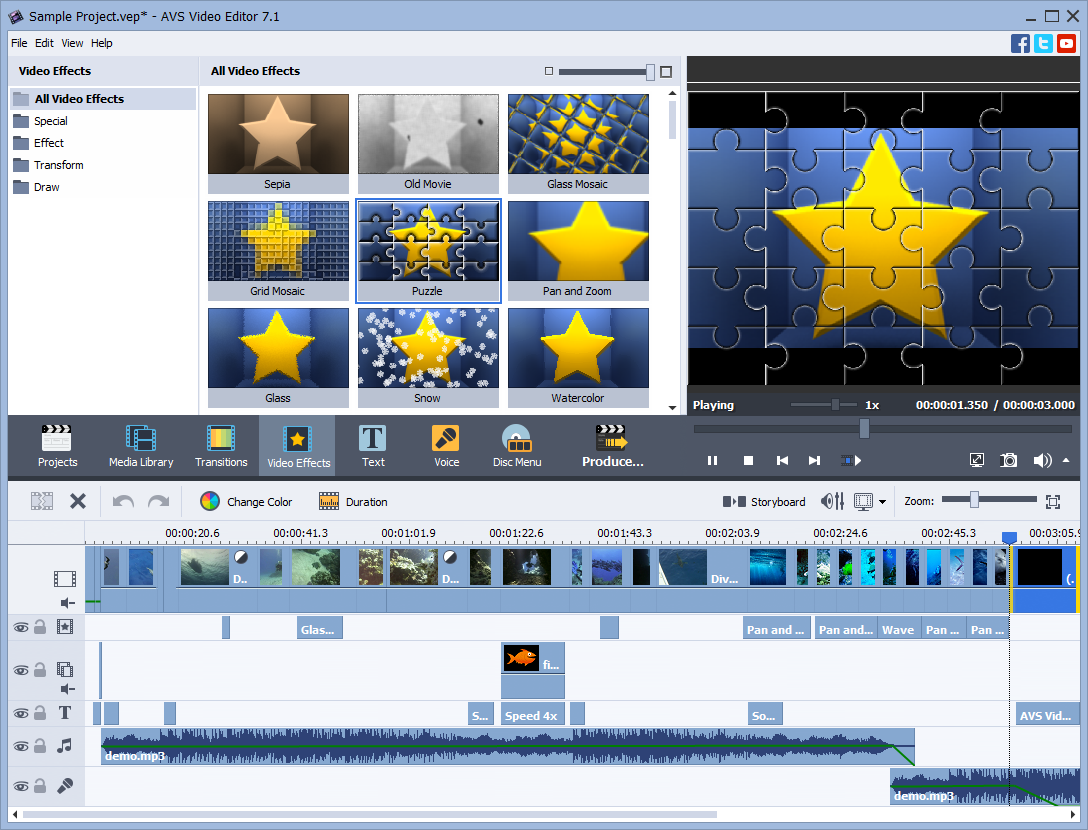AVS Video Editor + 4 multimedia titles FREE, Video Editing Software Screenshot