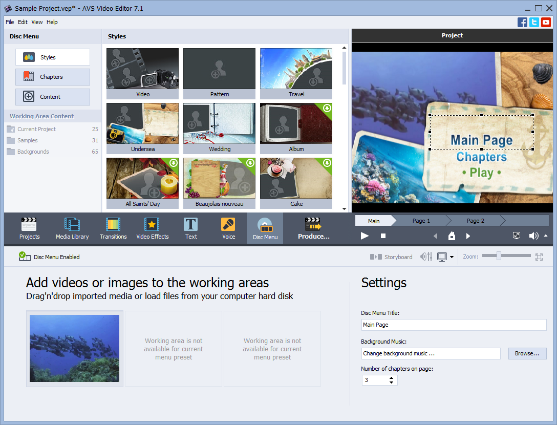AVS Video Editor + 4 multimedia titles FREE, Video Software Screenshot