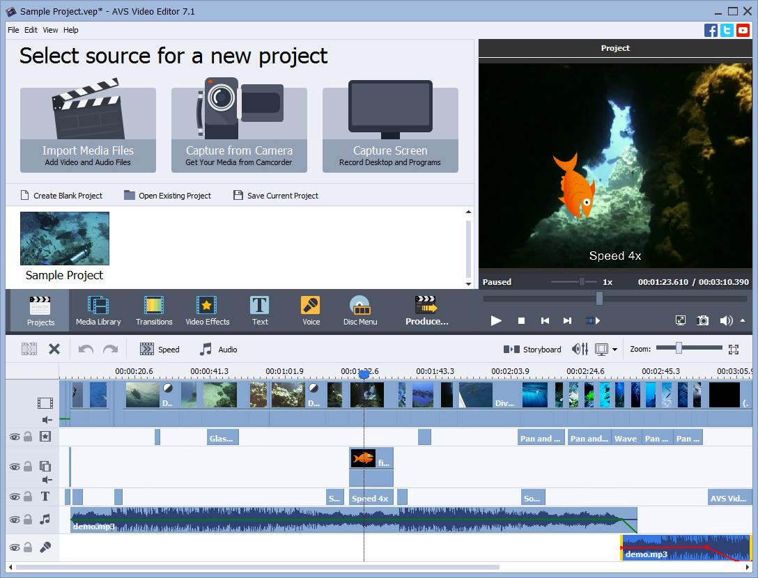 AVS Video Editor + 4 multimedia titles FREE Screenshot