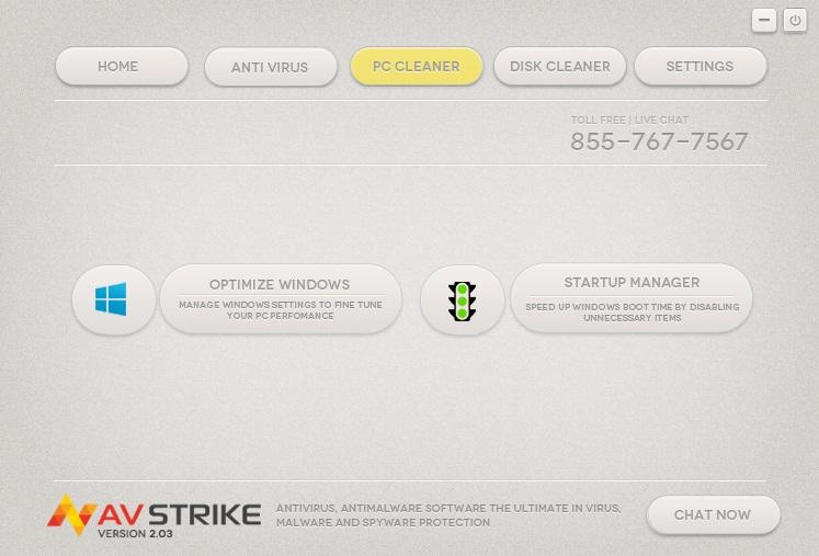 AVstrike Antivirus, Antivirus Software Screenshot