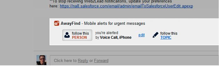 Email Tools Software, AwayFind Screenshot