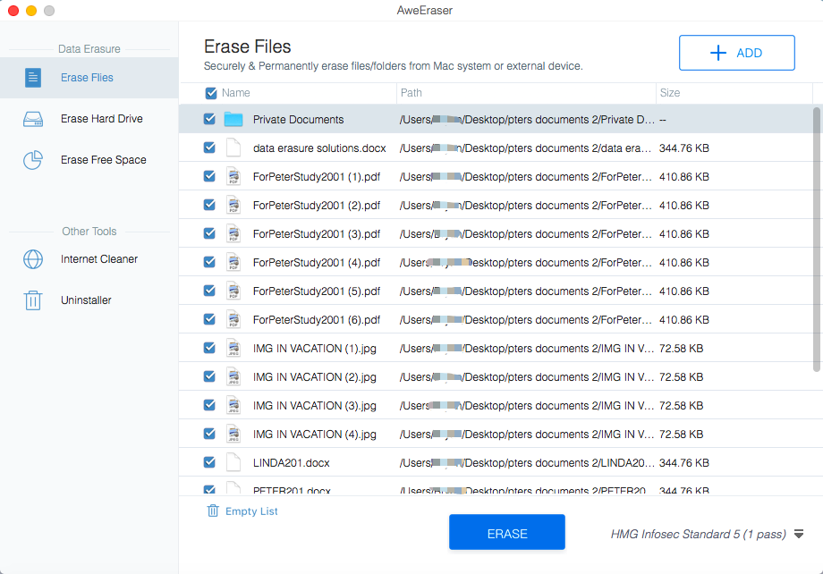 AweEraser for Mac Screenshot