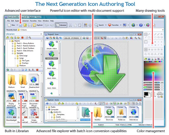 Axialis IconWorkshop Professional Screenshot