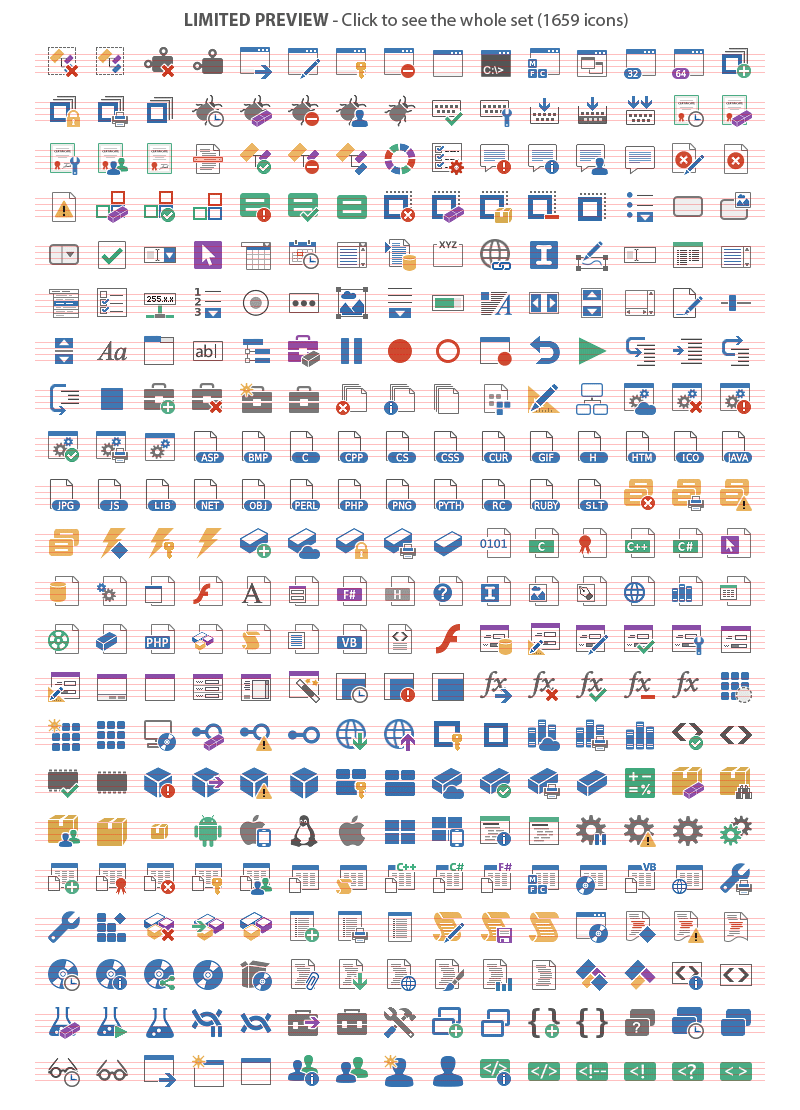 Axialis Pure Flat 2013 Stock Icons - 20 Icon Sets, Design, Photo & Graphics Software, Icons Software Screenshot