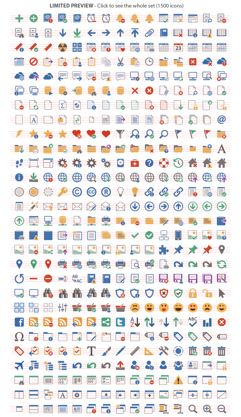 Icons Software, Axialis Pure Flat 2013 Stock Icons - 20 Icon Sets Screenshot