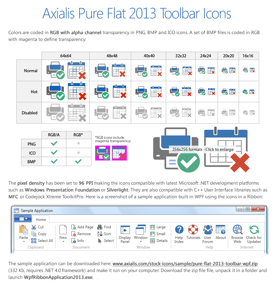 Axialis Pure Flat 2013 Stock Icons - 20 Icon Sets, Icons Software Screenshot