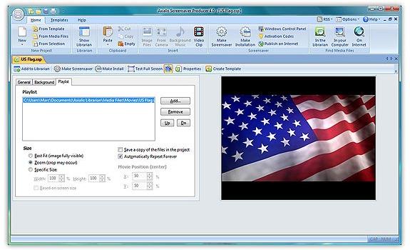 Axialis Screensaver Producer, Screensaver Software Screenshot