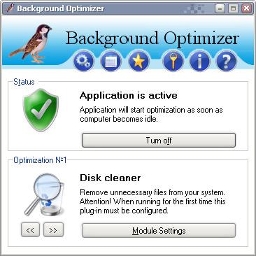 Background Optimizer Screenshot