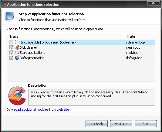 Background Optimizer, Software Utilities Screenshot