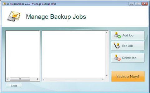 Backup Email Software Screenshot