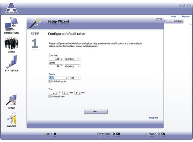 Bandwidth Manager, Network Software Screenshot