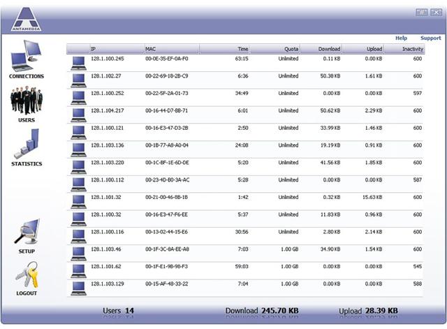Bandwidth Manager, Internet Software Screenshot
