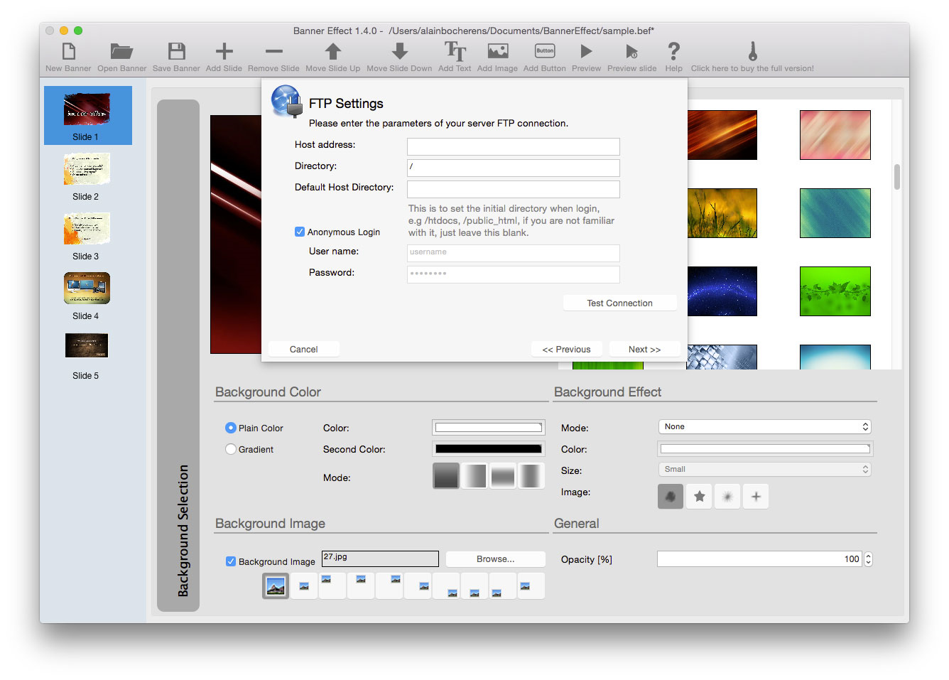 Banner Effect Professional Edition, Development Software, Flash Software Screenshot