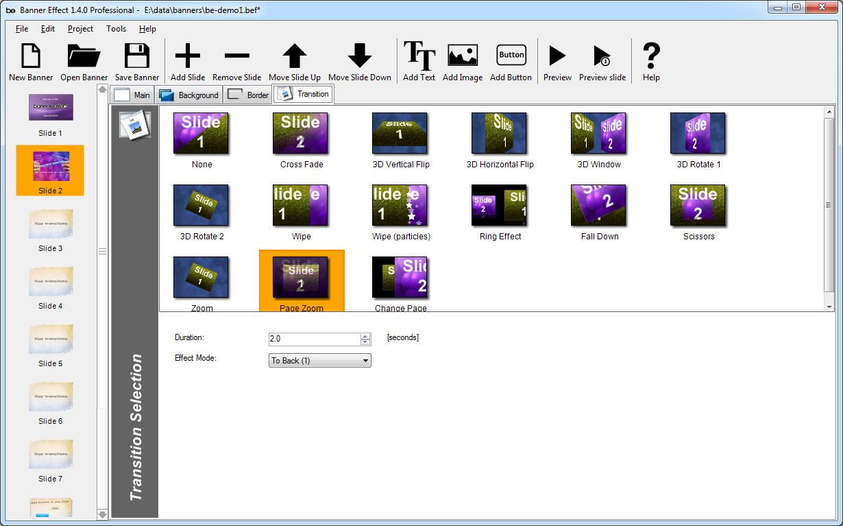 Flash Software, Banner Effect Professional Edition Screenshot
