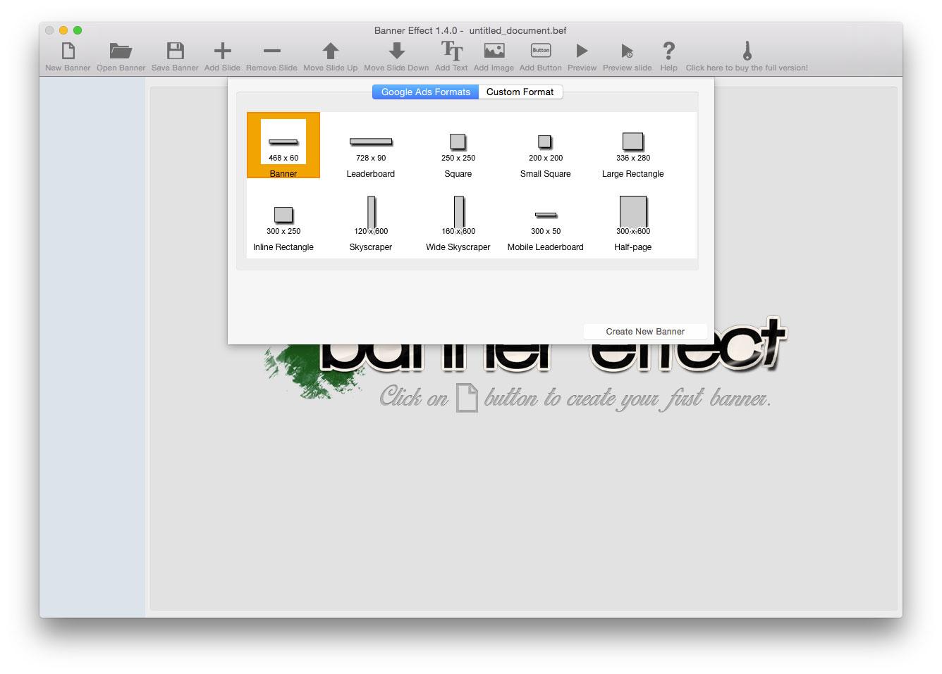 Development Software, Banner Effect Professional Edition Screenshot