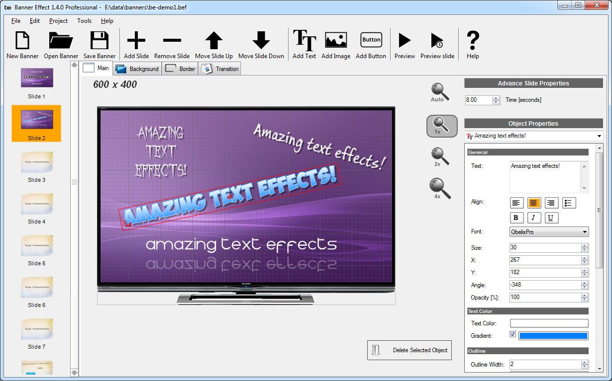 Banner Effect Professional Edition Screenshot