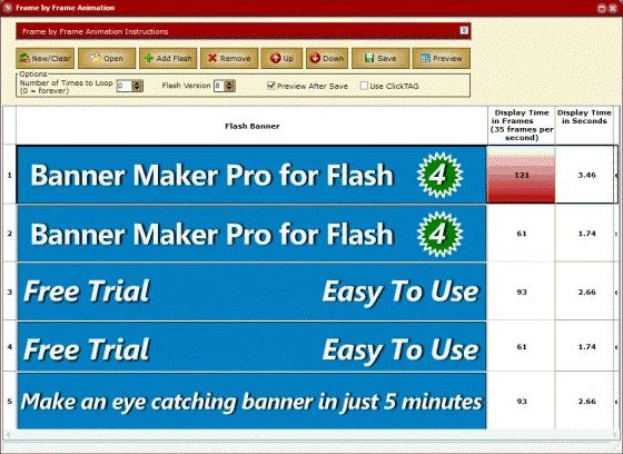 Banner Maker Pro for Flash, Development Software Screenshot