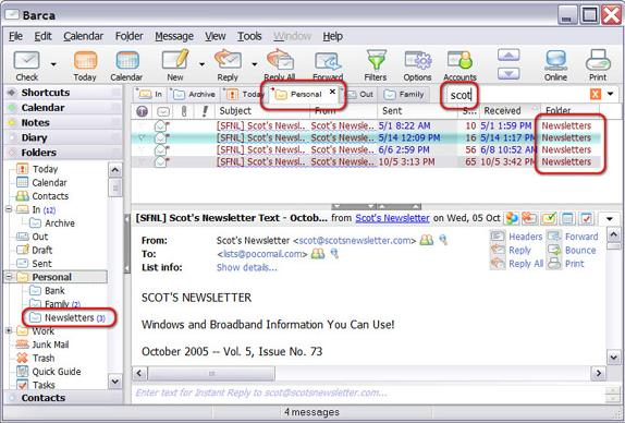 Barca Pro, Internet Software Screenshot