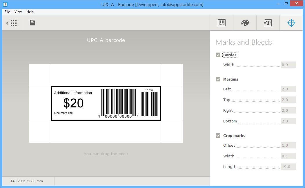 Design, Photo & Graphics Software, Barcode Screenshot