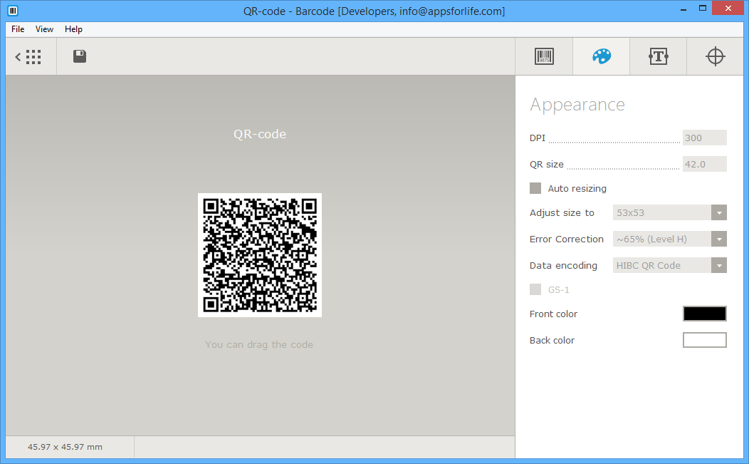 Barcode, Design, Photo & Graphics Software, Barcode Software Screenshot