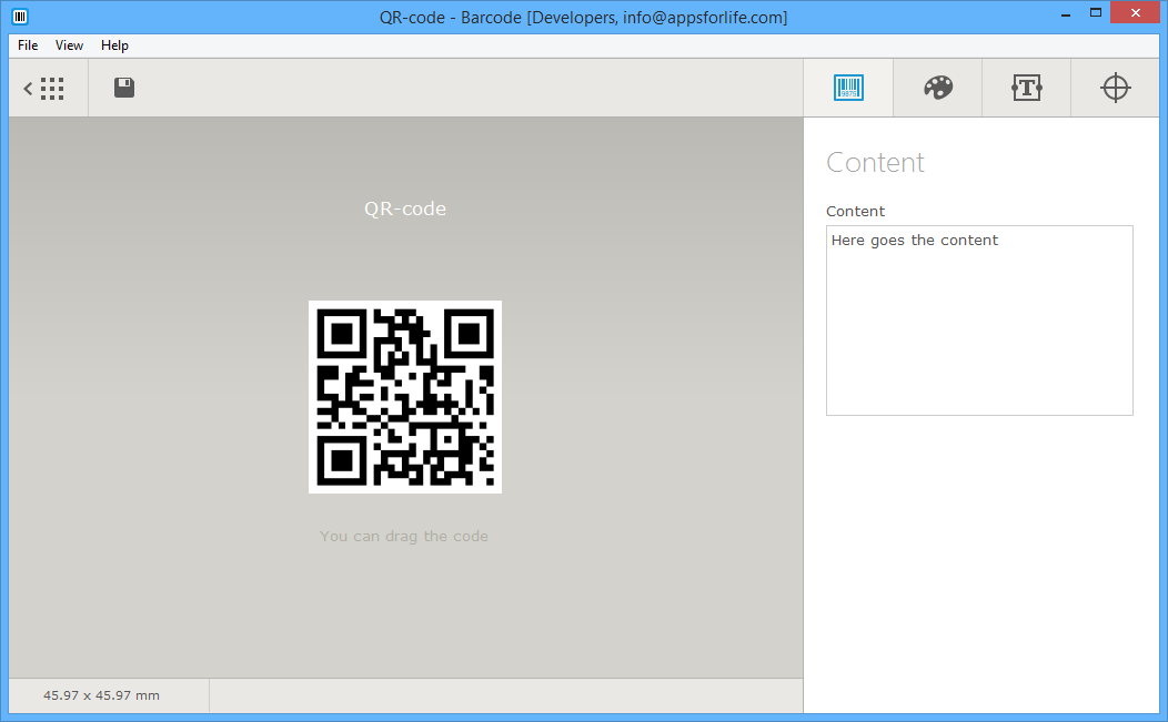Design, Photo & Graphics Software, Barcode Software Screenshot