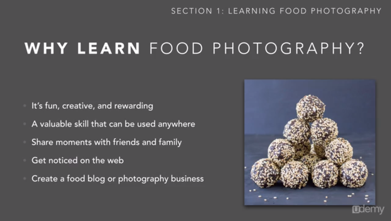 Basic Food Photography, Learning and Courses Software Screenshot