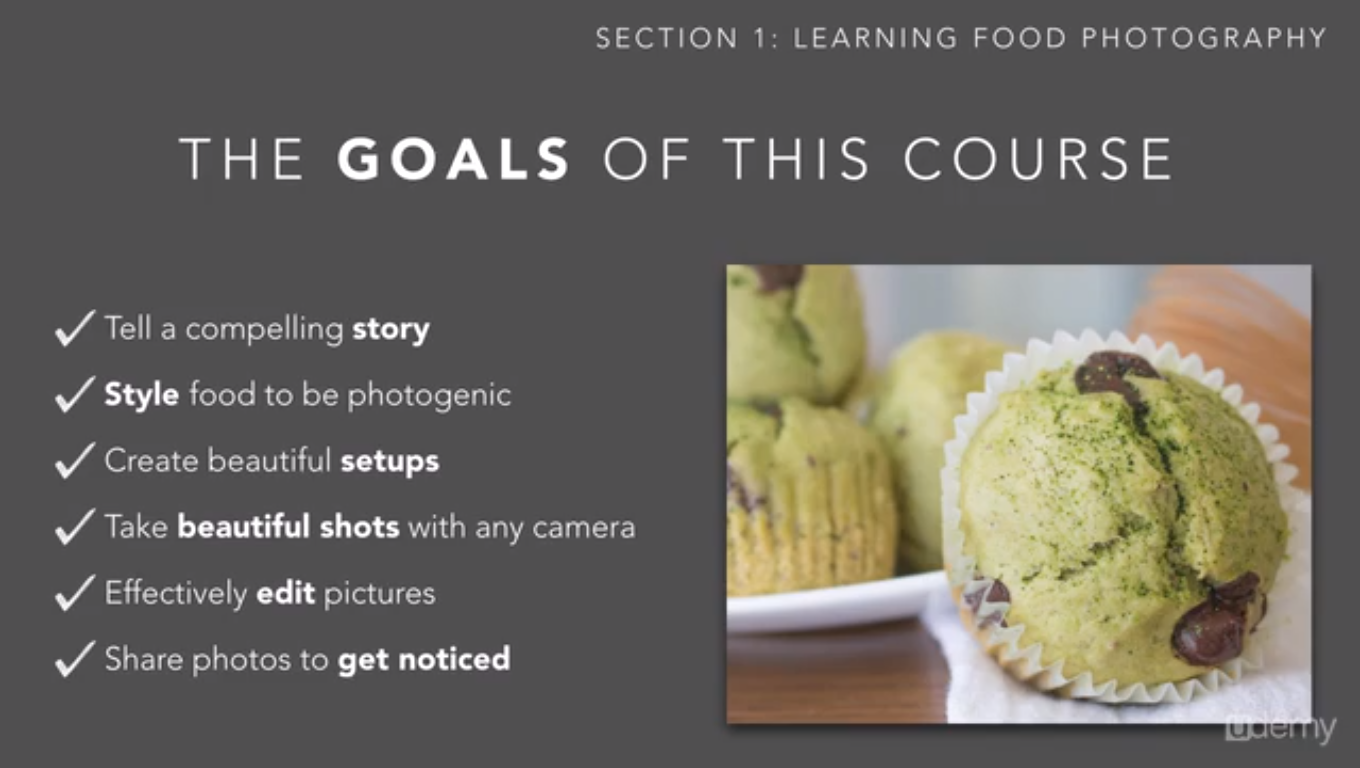 Learning and Courses Software, Basic Food Photography Screenshot