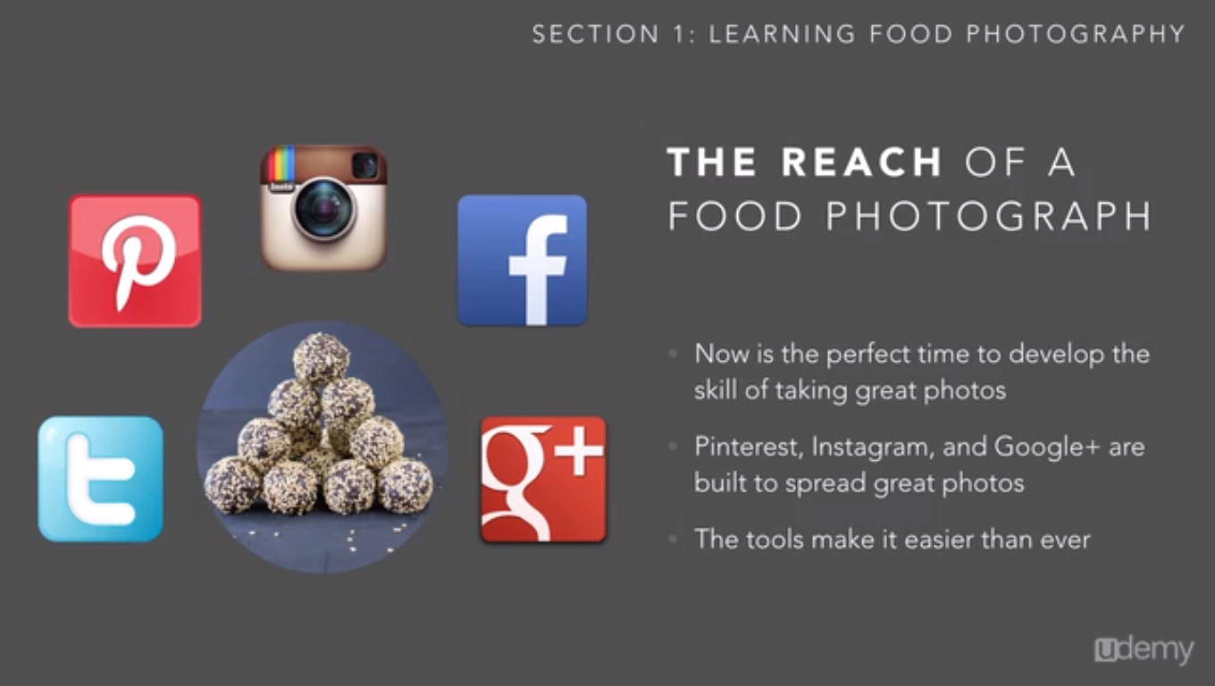 Basic Food Photography, Hobby, Educational & Fun Software Screenshot