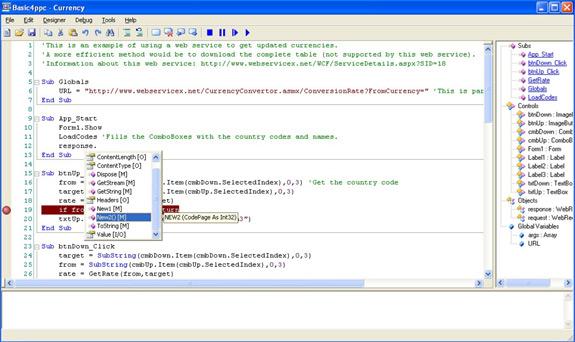 Basic4ppc Screenshot