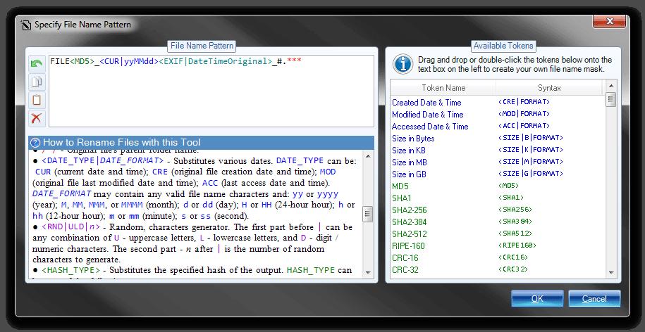 Batch File Rename, File Rename Software Screenshot