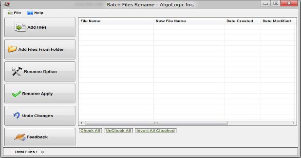 Batch Files Renamer Screenshot