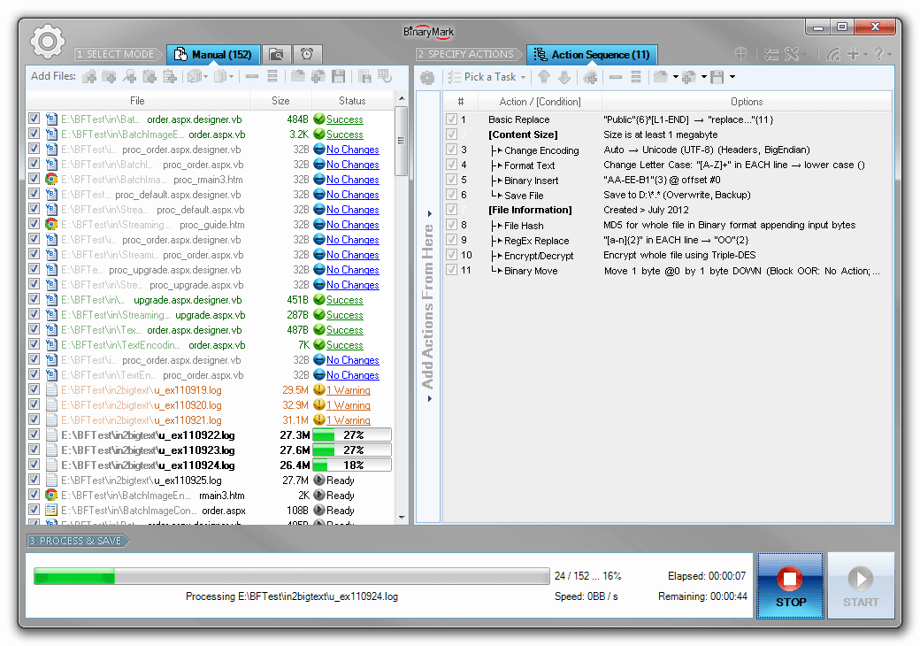 Batch Hex Editor, Development Tools Software Screenshot